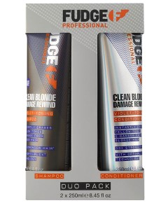 Clean Blonde Damage Rewind Violet Toning Shampoo And Conditioner Duo Pack