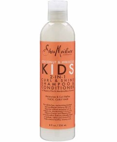 Coconut And Hibiscus Kids 2 In 1 Curl And Shine Shampoo And Conditioner