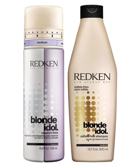 redken blonde idol blonde idol shampoo and custom tone conditioner treatment for cool blondes. Black Bedroom Furniture Sets. Home Design Ideas